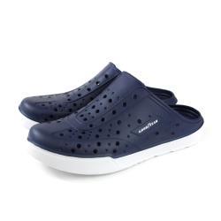 GOOD YEAR 固特異 懶人鞋 洞洞鞋 前包後空 深藍色 男鞋 GAMS83606 no041