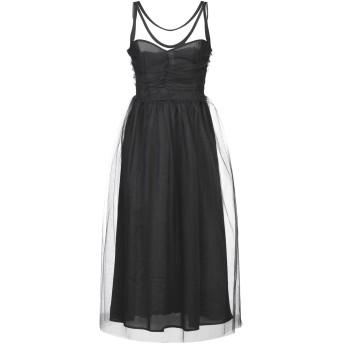 《セール開催中》SOUVENIR レディース 7分丈ワンピース・ドレス ブラック S ナイロン 100%