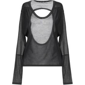 《期間限定セール開催中!》NEIL BARRETT レディース T シャツ ブラック XS シルク 100%