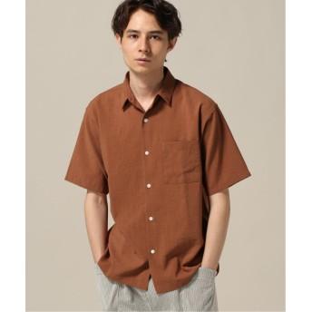 【50%OFF】 エディフィス TORAY LONNIZE ラミーシャツ メンズ オレンジ M 【EDIFICE】 【セール開催中】