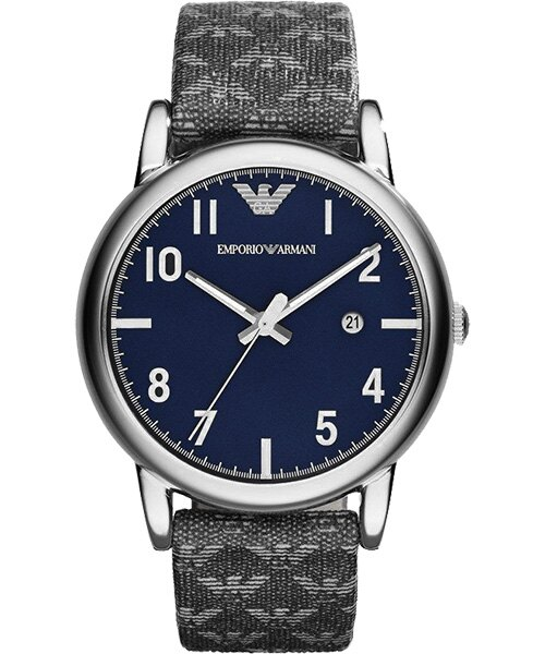 EMPORIO ARMANI 亞曼尼 AR1833典藏灰時尚腕錶/藍面41mm