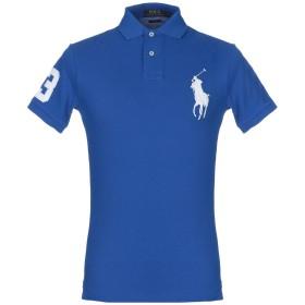 《期間限定セール開催中!》POLO RALPH LAUREN メンズ ポロシャツ ブルー S コットン 100%