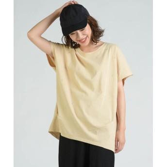 リップスター 星刺繍タックゆるTシャツ レディース ベージュ M 【LIPSTAR】