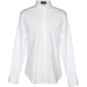 《期間限定 セール開催中》EMPORIO ARMANI メンズ シャツ ホワイト 38 76% コットン 21% ナイロン 3% ポリウレタン