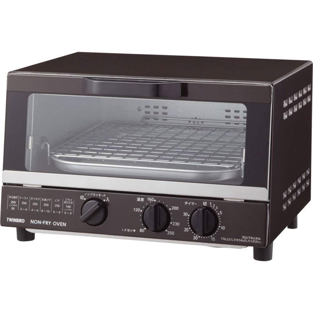 日本公司貨 TWINBIRD 雙鳥牌 TS-4054BR 小烤箱 烤吐司麵包機 80-250度 無油 熱風烹調