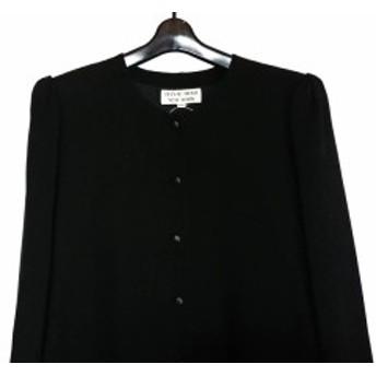 ハナエモリ HANAE MORI ワンピース サイズ9 M レディース 美品 黒 プリーツ【中古】