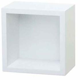 賃貸でも安心。ピンで取り付ける壁掛け飾り棚 キューブタイプ S KB-20S WH[KB-20S WH](ホワイト)