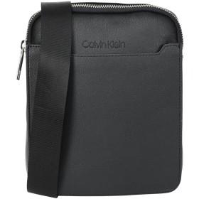 《期間限定 セール開催中》CALVIN KLEIN メンズ メッセンジャーバッグ ブラック ポリウレタン 100% SLIVER FLAT CROSSOVER