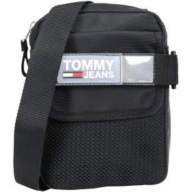 《期間限定セール開催中!》TOMMY JEANS メンズ メッセンジャーバッグ ブラック ポリエステル 100% TJM URBAN REPORTER