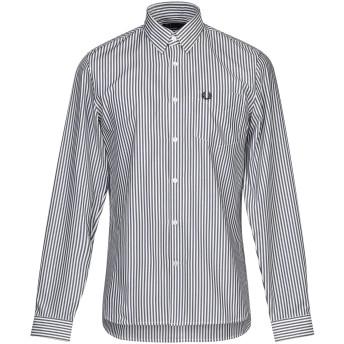《期間限定 セール開催中》FRED PERRY メンズ シャツ ダークブルー M コットン 100%