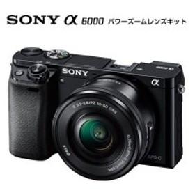 SONY α6000 ILCE-6000L パワーズームレンズキット ブラック [デジタル一眼カメラ (2430万画素)]【あす着】