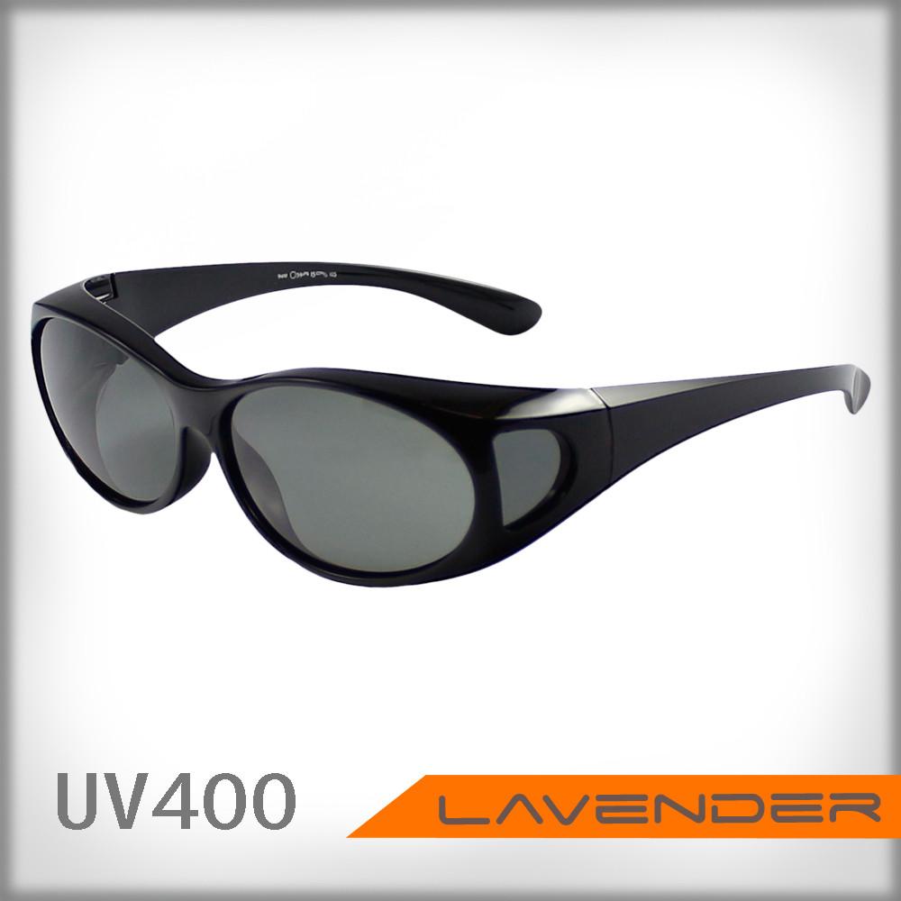 lavender偏光片套鏡-近視/老花可戴-9410亮黑