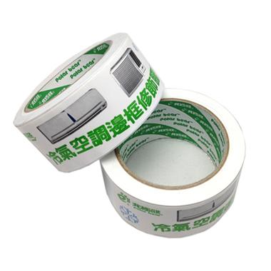 北極熊 白色PVC膠帶 (48mmX24M)  6捲/包  ★黏度佳、可手撕、冷氣空調邊框修飾★   【限宅配】
