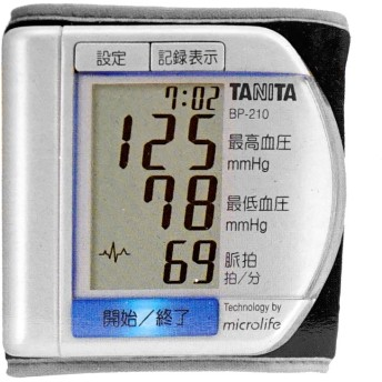 タニタ 手首式デジタル血圧計 BP-210 (パールホワイト)(6029956)