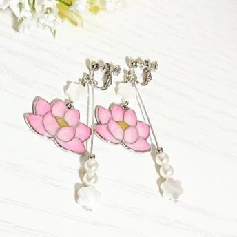 蓮の花イヤリング lotusFlower