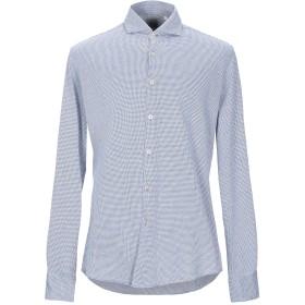 《9/20まで! 限定セール開催中》XACUS メンズ シャツ ダークブルー 42 コットン 100%