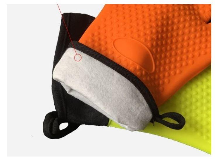 加厚防滑微波爐手套單只裝 廚房烘焙防燙隔熱耐高溫五指手套加棉加厚防滑微波爐手套