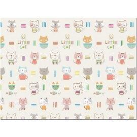 【淘氣寶寶】韓國製 帕龍 爬行地墊 安全無毒防水抗菌 單面無包邊/可以裁切 (PE*200*150*1cm)小貓