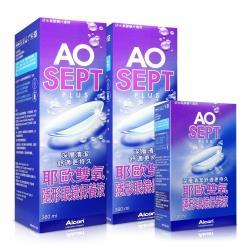 AO 耶歐雙氧 隱形眼鏡保養液(90ml)*6組合計540ml(附水盒)