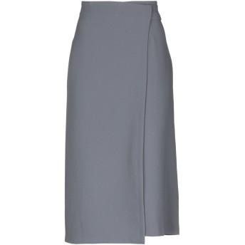 《9/20まで! 限定セール開催中》HANITA レディース 7分丈スカート 鉛色 44 ポリエステル 100%