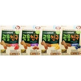 【淘氣寶寶】韓國 艾唯倪 IVENET 穀物棒棒 40g (藍莓+草莓+番薯+起司乳酪-超值4入組)