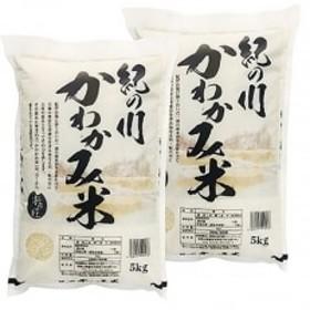 紀の川 かわかみ米(5kg×2袋)【白米】