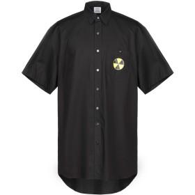 《期間限定 セール開催中》VETEMENTS メンズ シャツ ブラック XS コットン 100%