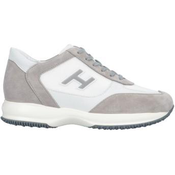 《セール開催中》HOGAN メンズ スニーカー&テニスシューズ(ローカット) ライトグレー 9 100% 革 紡績繊維
