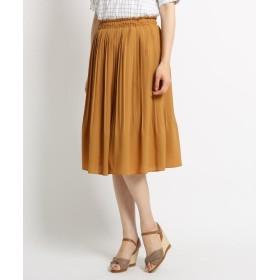 SunaUna(スーナウーナ) 【洗える】ジョーゼットプリーツスカート