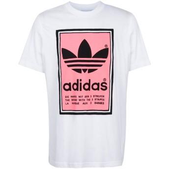 《セール開催中》ADIDAS ORIGINALS メンズ T シャツ ホワイト S コットン 100% FILLED LABEL