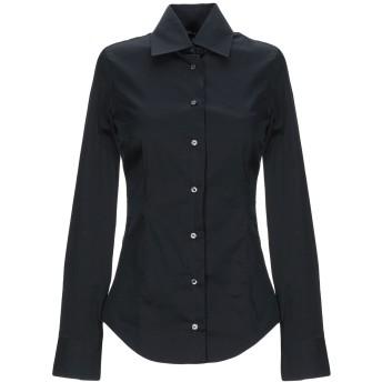 《期間限定 セール開催中》BRIAN DALES レディース シャツ ブラック 38 コットン 80% / ナイロン 15% / ポリウレタン 5%