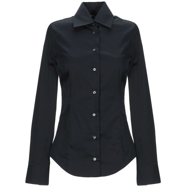 《期間限定セール開催中!》BRIAN DALES レディース シャツ ブラック 38 コットン 80% / ナイロン 15% / ポリウレタン 5%