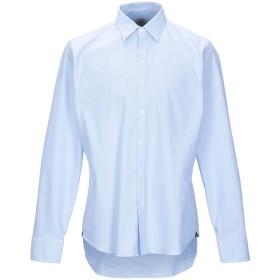 《期間限定 セール開催中》AGHO メンズ シャツ スカイブルー 43 コットン 98% / ポリウレタン 2%