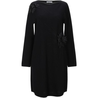《セール開催中》KANGRA CASHMERE レディース ミニワンピース&ドレス ブラック 46 ウール 70% / シルク 20% / カシミヤ 10%