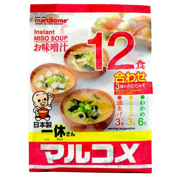 [哈日小丸子]丸米一休味增湯-綜合口味(12入)