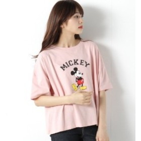 オーガニックコットン◎スタンディングミッキー半袖Tシャツ