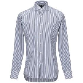 《期間限定 セール開催中》GRIGIO メンズ シャツ ダークブルー 39 コットン 100%