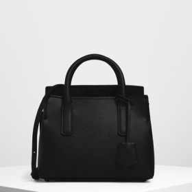 【2019 FALL 新作】タックインフラップ ストラクチャードバック / Tuck-In Flap Structured Bag(Black)
