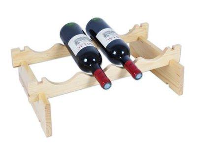 【御品生活】可堆疊紅酒架(一組入)※可放4瓶酒※ 居家酒瓶架/收納架