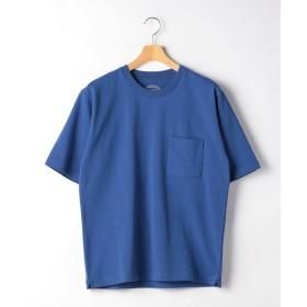 グリーンレーベルリラクシング SC ヘビーウェイト クルー 半袖 Tシャツ メンズ COBALT S 【green label relaxing】