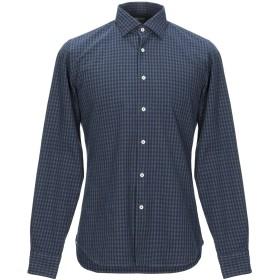 《期間限定セール開催中!》XACUS メンズ シャツ ダークブルー 39 コットン 100%