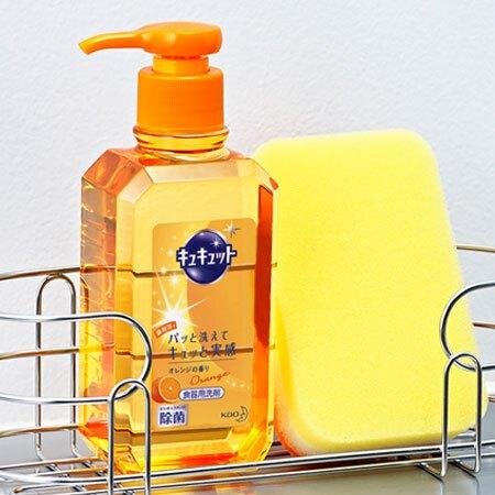 日本 KAO 花王 Kyukyutto 洗碗精 240ml 洗碗 清潔劑 清潔 廚房 除菌 油垢 洗碗精【N600787】