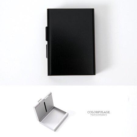 香菸盒 側掀式設計煙盒名片盒 個性金屬感雙面 貼身配件 密封防潮【NL152】立體曲線感