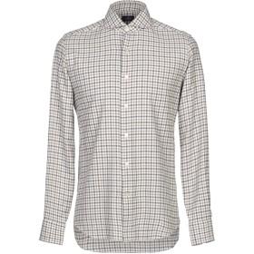 《セール開催中》ALESSANDRO GHERARDI メンズ シャツ カーキ 38 コットン 100%
