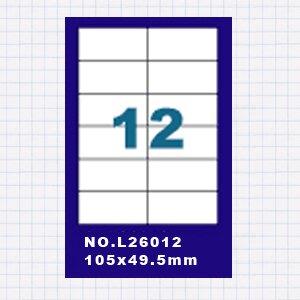 (5包)OGI A4標籤貼紙2欄6列/50張入 四邊直角 雷射.噴墨.點距陣各式列表機專用 標籤貼紙No.L26012