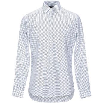 《セール開催中》DOMENICO TAGLIENTE メンズ シャツ ブルー 39 コットン 98% / ポリウレタン 2%
