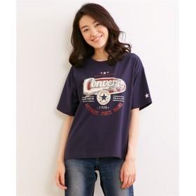コンバース 天竺カレッジロゴプリントTシャツ (大きいサイズレディース)Tシャツ・カットソー