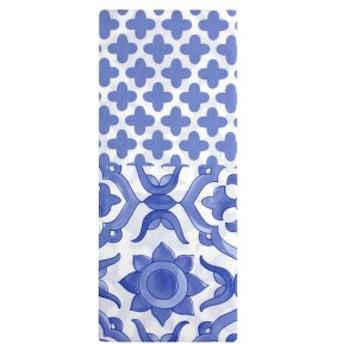 メリーナイト(Merry Night) 日本製 綿100% 枕カバー フロムプラス 「トプカプ」 45×90cm サックス FMP6