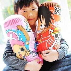 美麗大街【S102012821】海賊王 可愛款魯夫 兩年後喬巴圓筒抱枕12吋