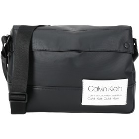 《セール開催中》CALVIN KLEIN メンズ メッセンジャーバッグ ブラック ポリエステル 75% / ポリウレタン 25% AVENUE MESSENGER